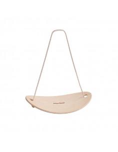 Planche d'équilibre en bois courbé