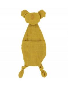 Doudou attache sucette Koala - Bliss Mustard