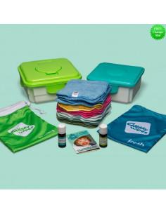 Maxi Kit Complet 25 lingettes lavables - Coton Bio Coloré