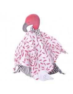 Doudou coton bio Kikadu - Flamingo