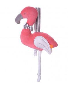 Jouet coton bio Kikadu - Flamingo