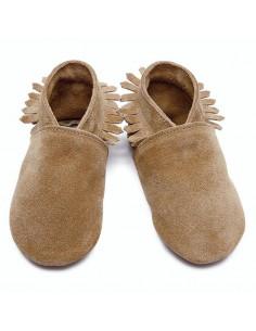 Chaussons en cuir 6-12mois - Moccasin Tan Suede