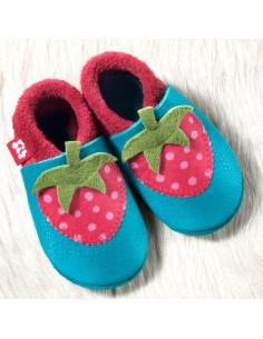 Chausson en cuir T18-19 - Erdbeere berry waikiki