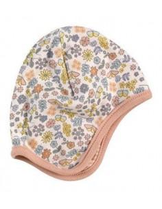 Bonnet réversible coton bio 6-12m - Flower