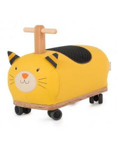 Porteur roues folles chat moutarde Lulu - Les Moustaches
