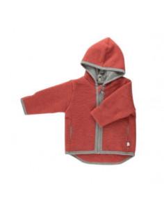 Veste en polaire de laine Milo 62-68 - Rouge vintage