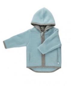 Veste en polaire de laine Milo 62-68 - Bleu givré
