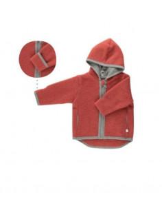 Veste en polaire de laine Milo 74-80 - Rouge vintage