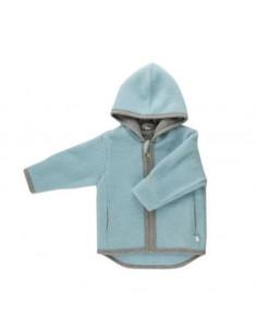 Veste en polaire de laine Milo 74-80 - Bleu givré