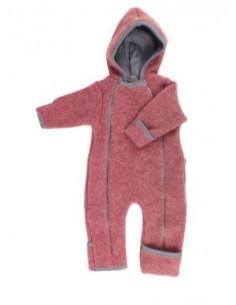 Combinaison 100% laine bio 62/68 - Rouge Vintage