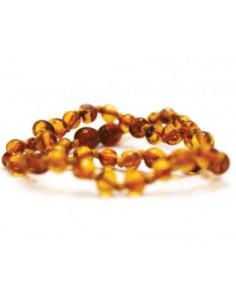 Collier d'ambre - Rond miel