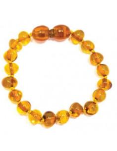 Bracelet d'ambre - Rond miel