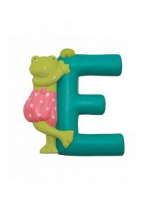 Lettre résine E grenouille - La Grande Famille