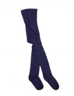 Collants coton bio 74/80 - Bleu foncé