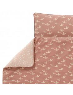 Housse couette coton bio 100x135 - Birds