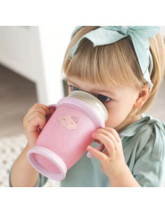 Tasse Lovi 360 anti-renversement 250ml - Retro Pink