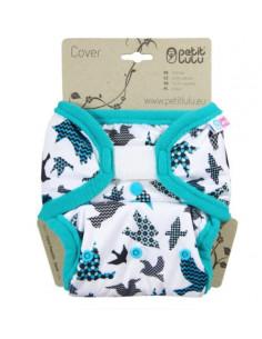 Culotte de protection Velcros TU Petit Lulu - Turquoise Birds