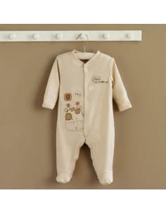 Pyjama coton bio 0-3m - Sleepy Safari