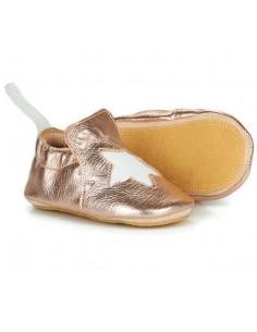 Chaussons Blublu avec patin T18-19 - Etoile mou pink