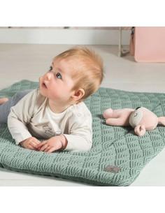 Tapis de parc 75x95cm River knit - Ash green