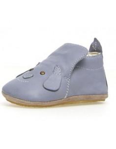 Chausson en cuir + semelle antidérapante 18 - Dlin Jeans