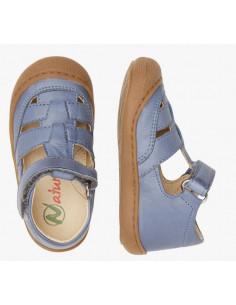 Sandale cuir souple Naturino Wad 24 - Céleste