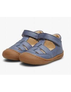 Sandale cuir souple Naturino Wad 22 - Celeste