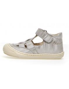 Sandale cuir souple Naturino Wad 22 - Silver