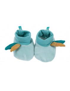 Chaussons bleus 0-6mois - Le voyage d'Olga