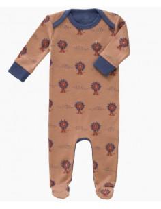 Pyjama coton bio avec pied 6-12mois - Lion