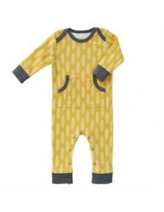 Pyjama coton bio sans pied - Havre Vintage Yellow