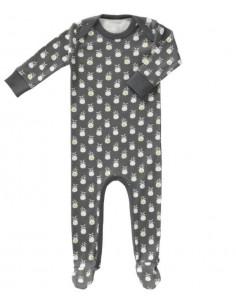 Pyjama coton bio avec pied 0-3m - Pineapple antracithe