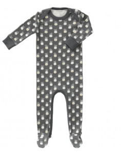Pyjama coton bio avec pied 3-6m - Pineapple antracithe