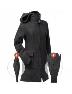 Manteau laine avec membrane coupe vent - Anthracite
