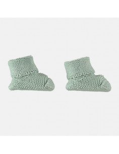 Chaussons tricot naissance Petit Oh! - Vert