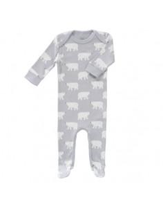 Pyjama coton bio avec pied 3-6m - Polar bear