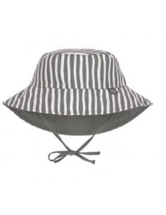 Chapeau de soleil réversible 3-6mois - Stripe olive