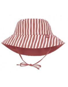 Chapeau de soleil réversible 3-6mois - Stripe red