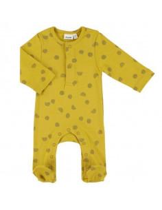 Pyjama coton bio avec pieds 62/68 - Sunny Spots