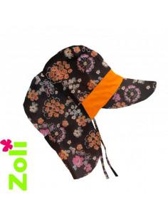 Chapeau soleil évolutif - Mandarine