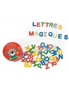 Lettres magnétiques en carton - Les Popipop