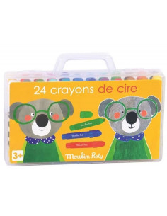 Boîte de 24 crayons de cire - Les Popipop