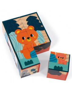 Cubes en bois - Animaux