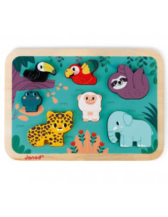Puzzle en bois - Jungle