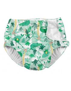 Maillot de bain avec absorbant 18 mois - Green tropical blue