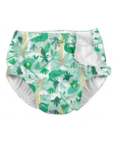 Maillot de bain avec absorbant 12 mois - Green tropical blue