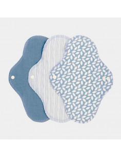 Protège-slips lavables coton bio (3pc) - Denim