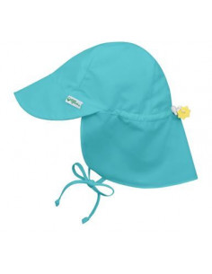 Chapeau soleil Flap 9-18 mois - Aqua