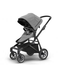 Poussette Thule Sleek chassis noir - Grey Melange