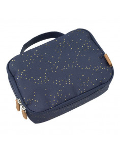 Lunchbag - Indigo dots gold